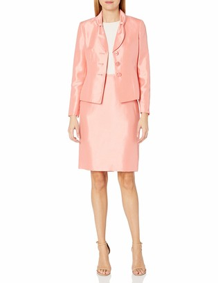 Le Suit LeSuit Women's Shiny 3 Button Jacket Skirt Suit (2)
