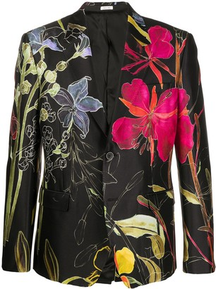 Alexander McQueen Deconstructed Floral Blazer