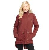Trespass Womens Clea Insulated Waterproof Parka Jacket Merlot