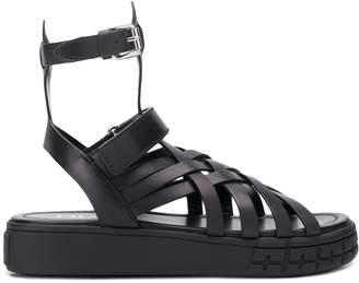 Prada woven strappy sandals