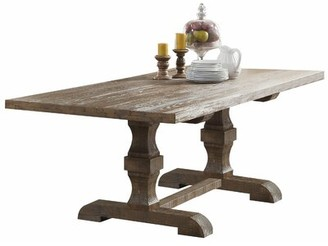 Ophelia & Co. Carlie Double Pedestal Dining Table & Co.