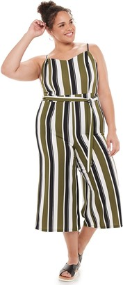 Almost Famous Juniors' Sweetheart Neck Jumpsuit With Sash