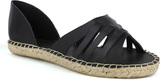 Fahrenheit Black Slip Leanne Espadrille Sandal