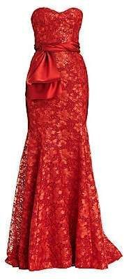 Carolina Herrera Women's Strapless Lace Trumpet Gown