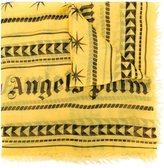 Palm Angels geometric print scarf