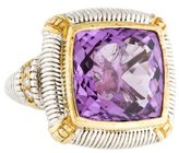 Judith Ripka Amethyst & Diamond Cocktail Ring