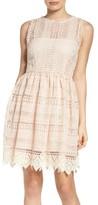 BB Dakota Women's Elissa Lace Fit & Flare Dress