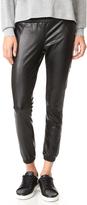 David Lerner Vegan Leather Track Pants