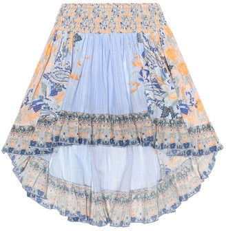 Camilla Kids Embellished printed cotton skirt