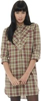 Fred Perry Womens Vintage Check Shirt Dress Chilli