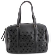 MG Collection Beatriz Cutout Bowling Tote Women Synthetic Black Shoulder Bag.