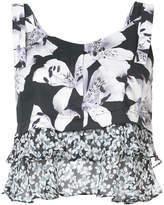 Nicole Miller shoulder strap blouse