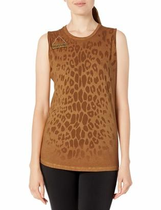 Freecity Women's Leopard Golden Line Slvss T-Shirt Magical Temple s