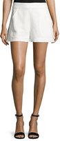 Veronica Beard Blair Jacquard Shorts, Off White