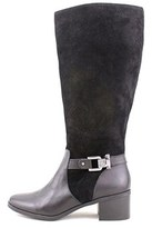 AK Anne Klein Women's Joettaw Suede Wide Calf Riding Boot.