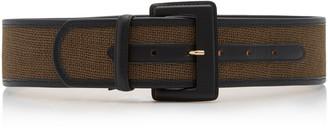 MAISON BOINET Nappa Leather-Trimmed Corset Belt