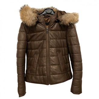 Giorgio & Mario Camel Leather Coats