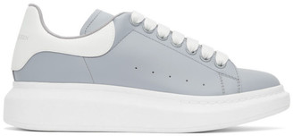 Alexander McQueen Grey and White Oversized Sneakers
