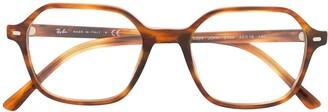 Ray-Ban Square Frame Tortoiseshell Effect Glasses