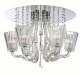 Eurofase Corato Collection 6-Light Chrome and Clear Flushmount