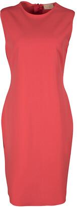 Lanvin Orange Sleeveless Shift Dress L