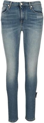 Off-White Mid-Rise Skinny Denim Jeans