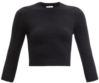 JoosTricot Cropped Cotton-blend Sweater - Black