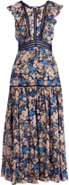 Rebecca Taylor Gigi floral-print ruffle-trimmed cotton dress