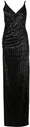 Balmain sequinned long dress