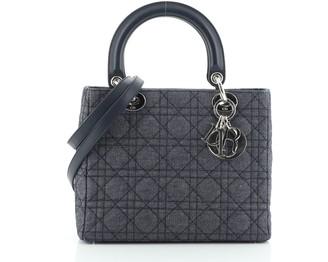 Christian Dior Lady Bag Cannage Quilt Denim Medium