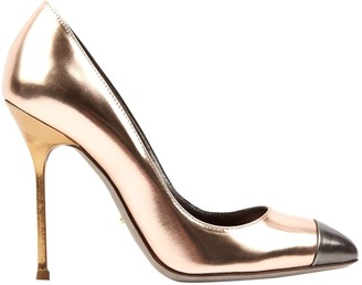 Sergio Rossi Metallic Leather Heels