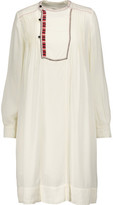 Etoile Isabel Marant Camil Pintucked Embroidered Crepe Dress