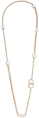 Pomellato 18kt rose and white gold Nudo mother-of-pearl, white topaz and diamond necklace