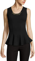 BY AND BY by&by Sleeveless Textured Knit Peplum Tank Top - Juniors