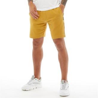 Dstruct Mens Jogger Shorts Satin Tape Gold
