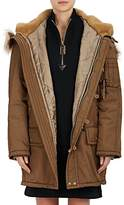 Marc Jacobs Women's Faux-Fur-Trimmed Tech-Twill Parka