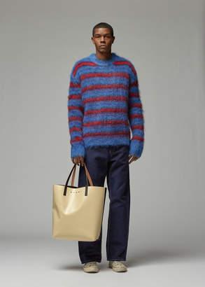 Marni Striped Mohair Crew Sweater