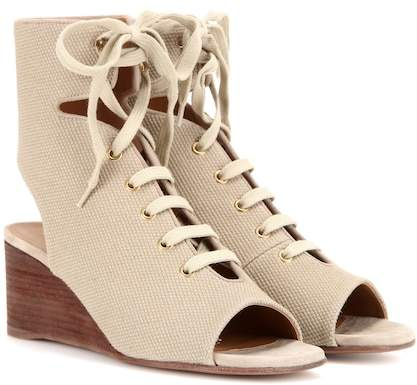 Chloé Iness lace-up wedge sandals
