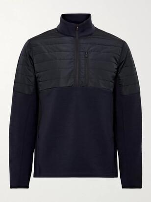 Aztech Mountain Team Aztech Quilted Panelled Stretch-Tech Fleece Half-Zip Sweatshirt