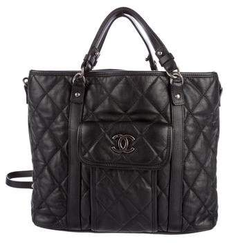 Chanel 2015 Quilted Shopping Tote