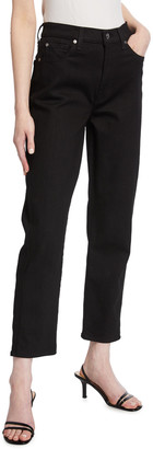 7 For All Mankind High-Waist Cropped Straight Jeans