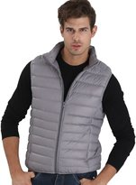 CHERRY CHICK Men's Light Weight Packable Puffer Down Vest