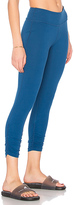 Beyond Yoga Essential Gathered Capri Legging in Blue. - size L (also in XS)