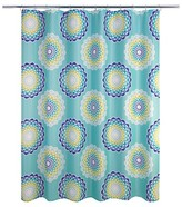 Nobrand No Brand Atomic Circle Shower Curtain - Blue (Print) - Allure