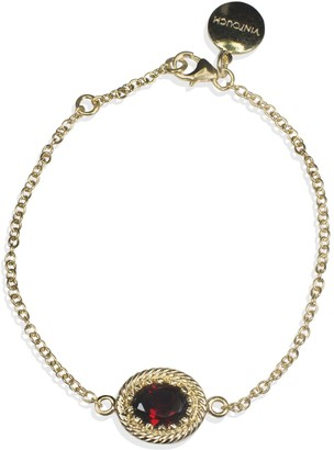 Vintouch Italy Luccichio Gold Vermeil Garnet Bracelet