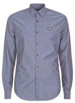 Armani Jeans Herringbone Chambray Shirt