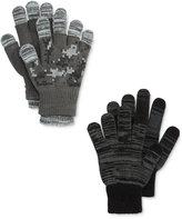 London Fog 3-Pk. Camo Print Fingerless & Texting Gloves Set, Big Boys (8-20)