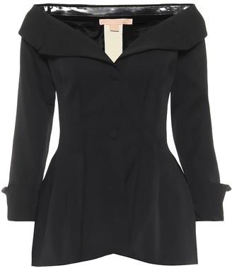 Brock Collection Rohtak off-shoulder wool jacket