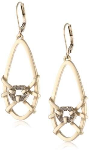 Sam Edelman Pronged Pave Oval Hoop Earrings