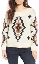 Moon River Women's Knit Scooped Neck Sweater